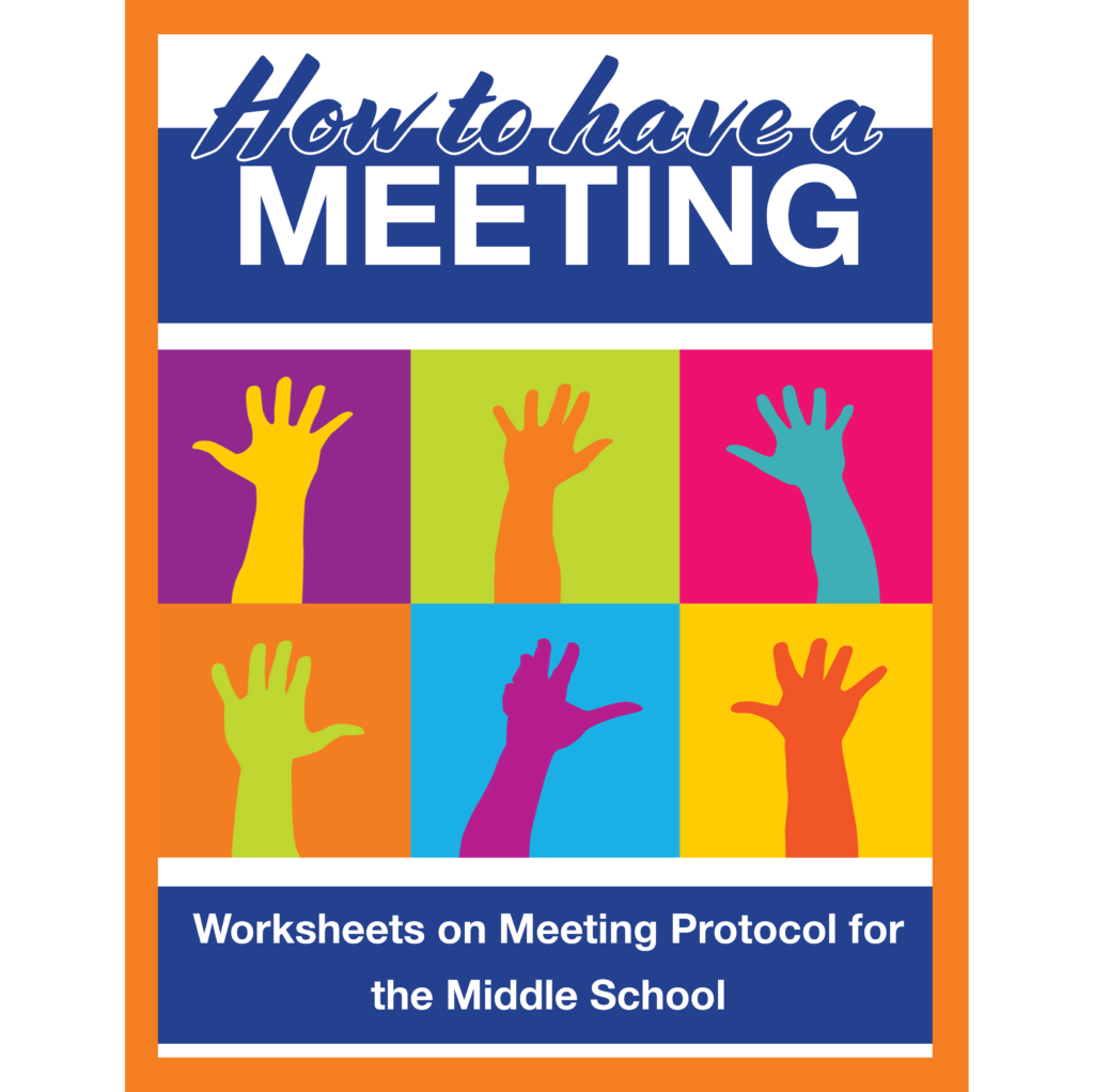 How to hold a meeting – new set of worksheets for Middle School Students